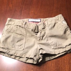 Abercrombie distressed cargo short shorts